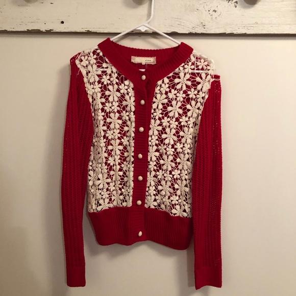 Areve Tops Crochet Lace Sweater Cardigan Poshmark